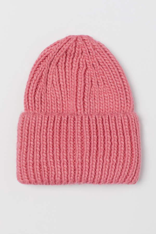 Chunky-knit hat