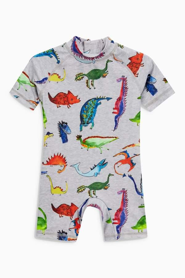 Boys Next Grey Dino Print Sunsafe Suit (3mths-6yrs)