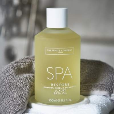 The White Company Spa Restore Luxury Bath Oil