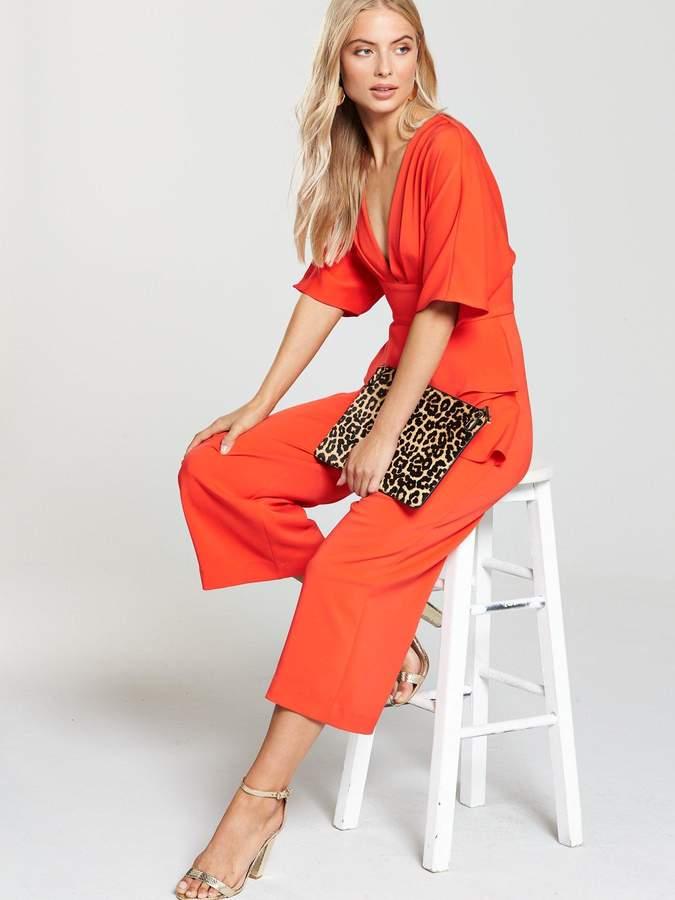 Lavish Alice Lavish Alice Kimono Sleeve Peplum Culotte Jumpsuit