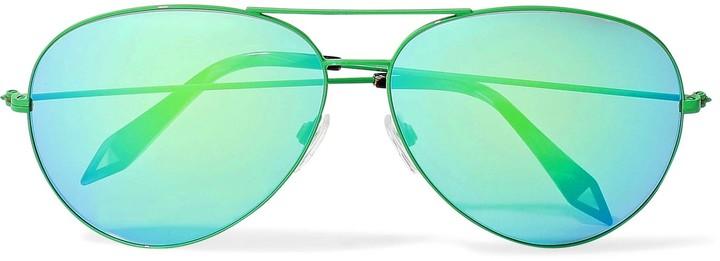 Victoria Beckham Classic Victoria Aviator-style Metal Sunglasses