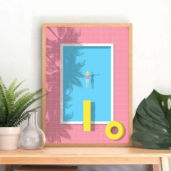 Keeler & Sidaway Swimming Pool Art Print