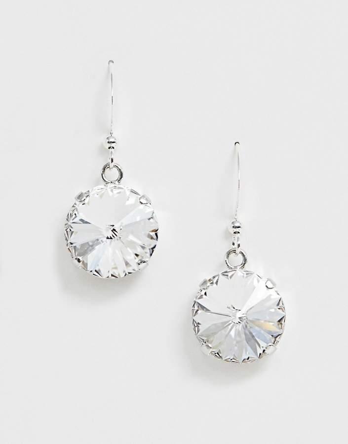 Krystal London Swarovski Crystal rivoli on earhook earrings