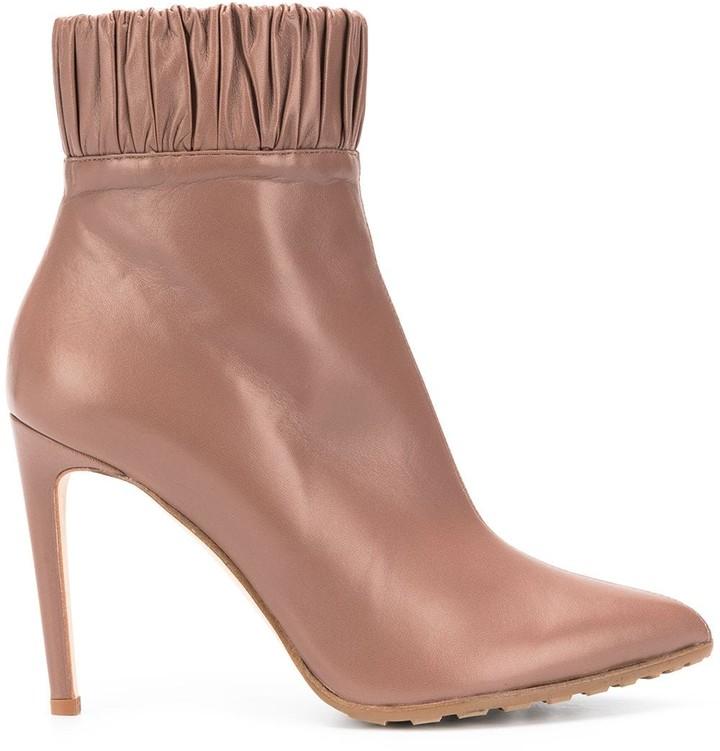 Chloe Gosselin Maud pleated trimming boots