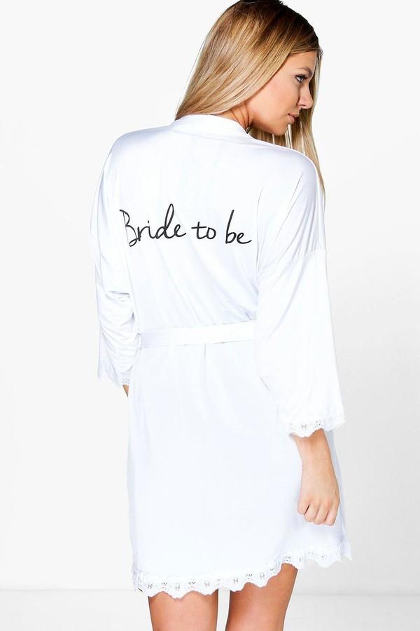Bride Slogan Slinky dressing gown
