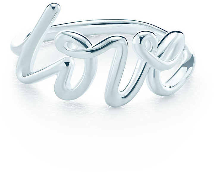 Paloma's Graffiti love ring in sterling silver - Size 5