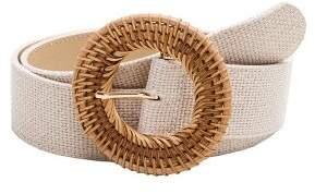 Raffia buckle belt