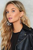nastygal Speak of the Devil Hoop Earrings
