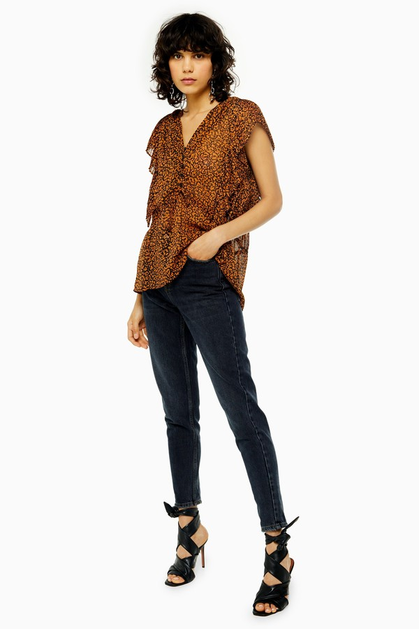 Topshop Womens Idol Sulphur Mom Jeans - Blue