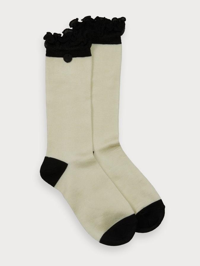 Scotch & Soda Ruffle Detail Socks