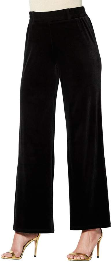 Iman IMAN Global Chic Dressed Ready Velvet Pull-on Palazzo Pant