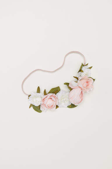 H&M - Hairband with Flowers - Pink