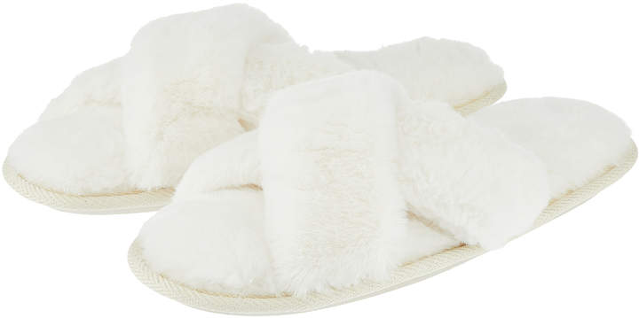 Accessorize Crissy Cross Slider Slippers