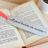 Ellie Ellie 'All Great Leaders Are Readers' Metal Bookmark