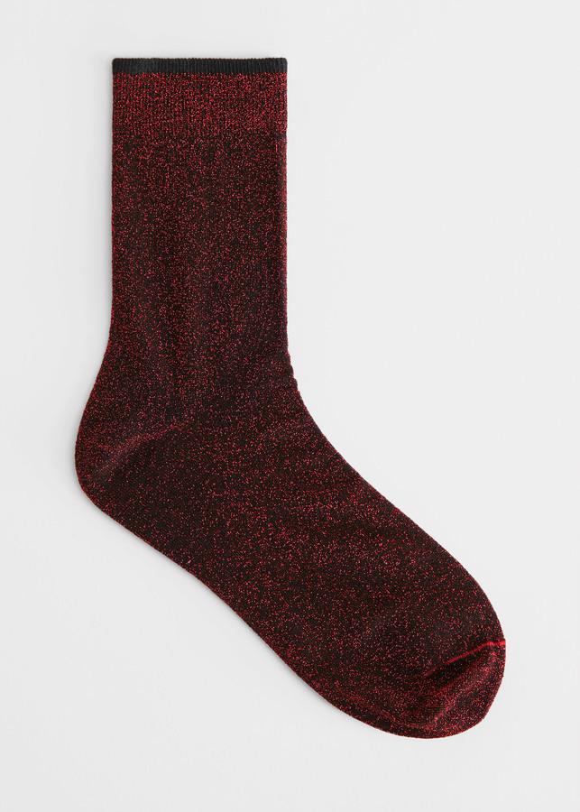 Glitter Lurex Ankle Socks