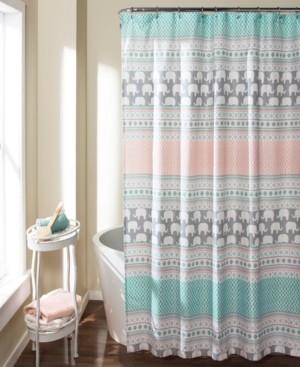 elephant stripe 72 x 72 shower curtain bedding