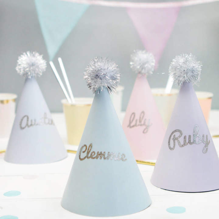 Postbox Party Personalised Pastel Party Hats