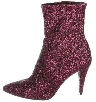 Alice + Olivia Glitter Ankle Boots