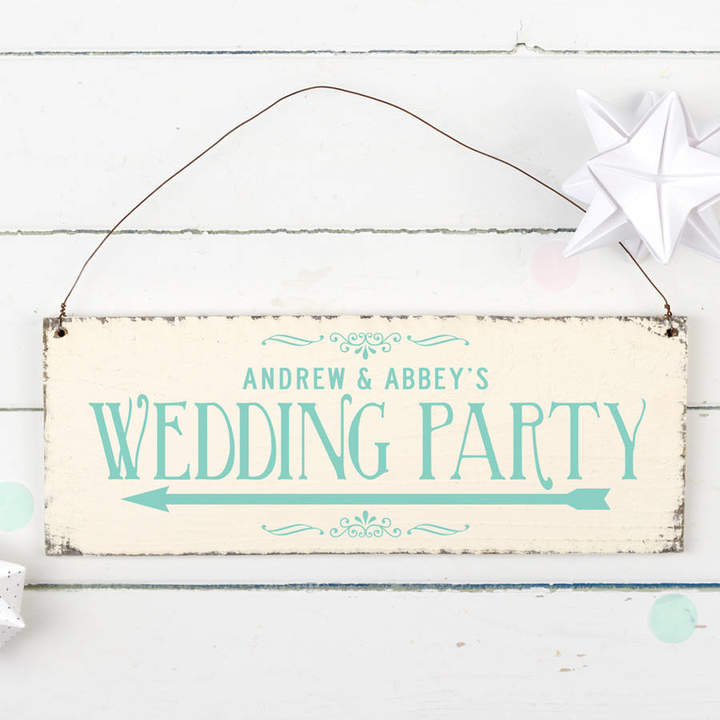Delightful Living Personalised Wedding Party Direction Sign
