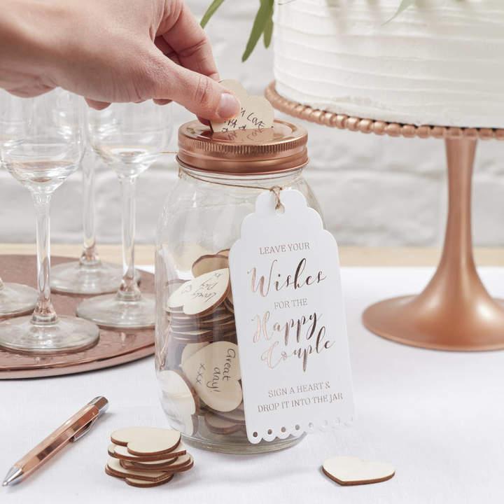 Ginger Ray Glass Wishing Jar Wedding Guest Book Alternative