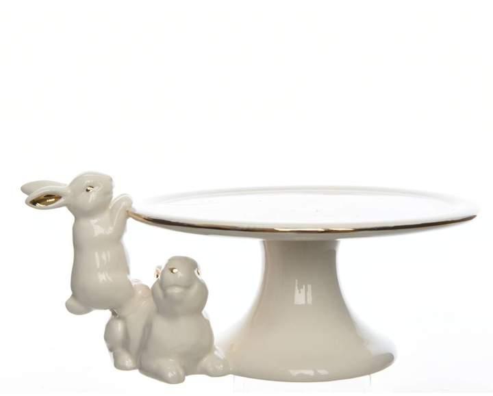 Ella James Ceramic Rabbit Easter Cake Stand
