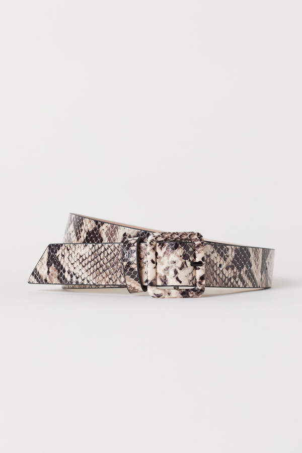 H&M Snakeskin-patterned belt