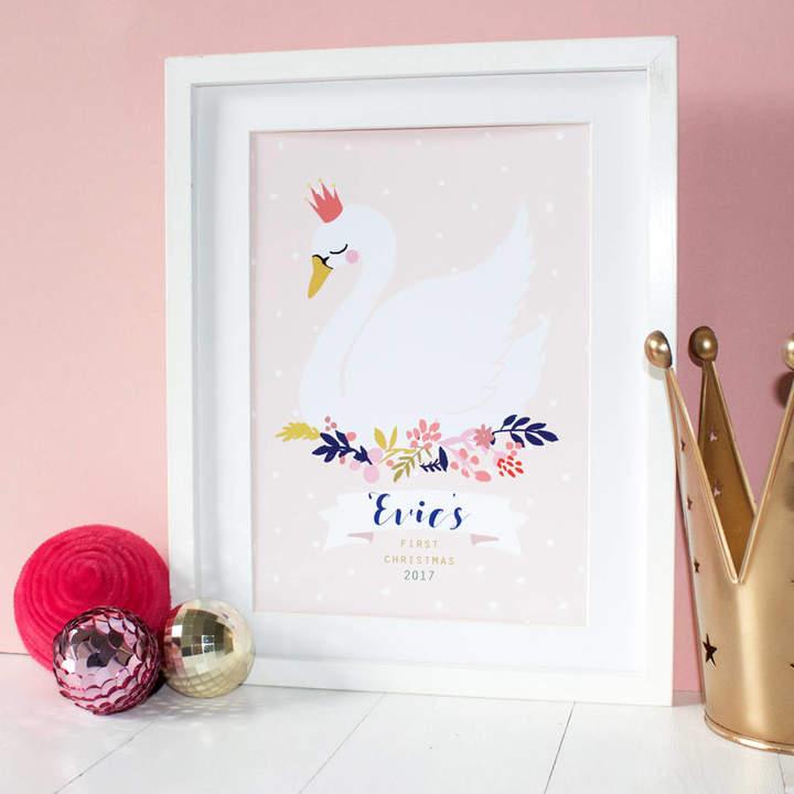 Eleanor Bowmer First Christmas Swan Print
