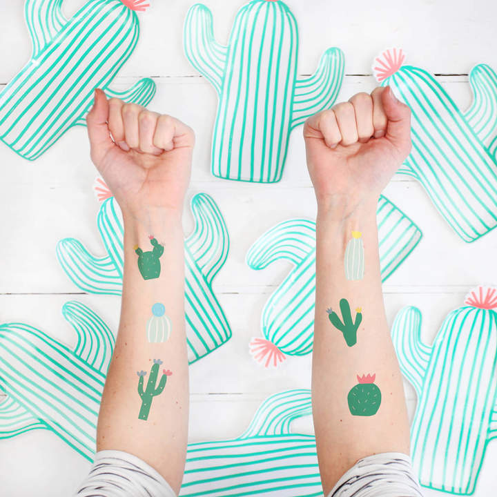 Postbox Party Cactus Temporary Tattoos