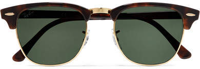 Ray-Ban - Clubmaster Tortoiseshell Acetate And Gold-tone Sunglasses - Brown