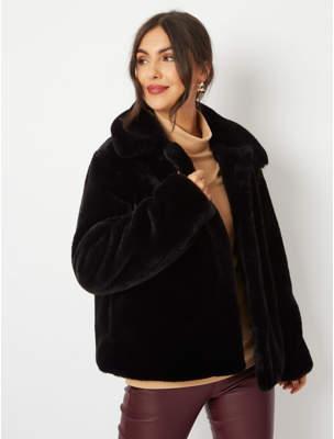 George Black Faux Fur Short Jacket