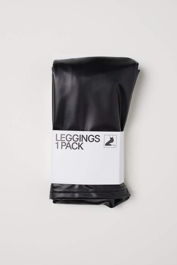 H&M Imitation leather leggings