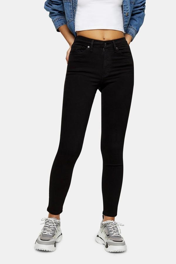 Topshop Womens Black Jamie Jeans - Black