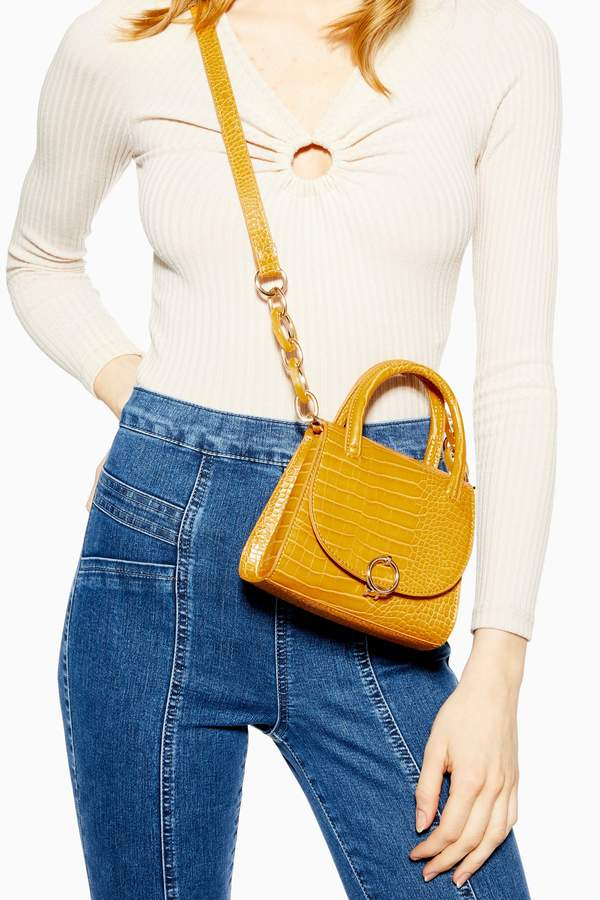 Topshop Womens Marley Mini Bag - Yellow
