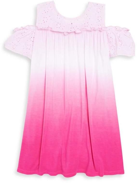Design History Toddler's & Little Girl's Tie Dye Cold-Shoulder Dress