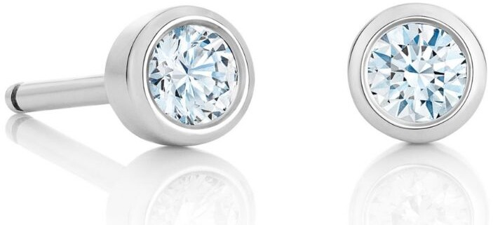 De Beers White Gold and Diamond My First De Beers Stud Earrings