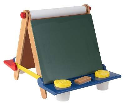 KidKraft Tabletop Easel - Natural with Primary