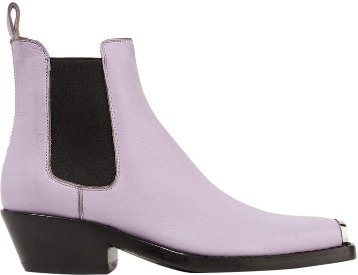 Calvin Klein 205w39nyc Textured-leather Ankle Boots
