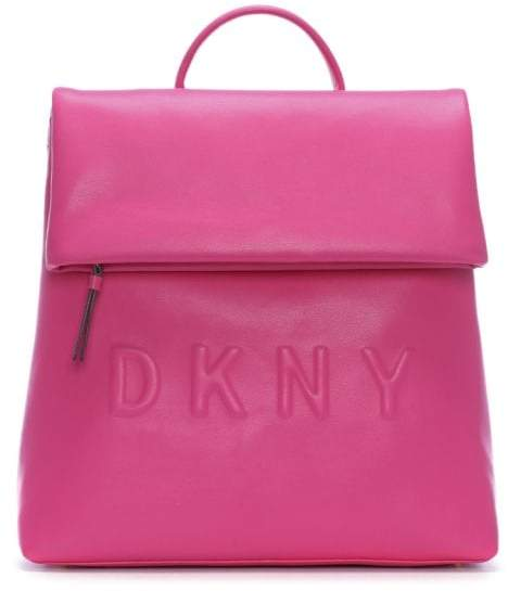 Dkny Tilly Wildberry Leather Logo Backpack