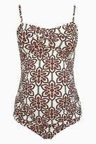 Womens Next Cream Tile Printed Maternity Swimsuit - Cream