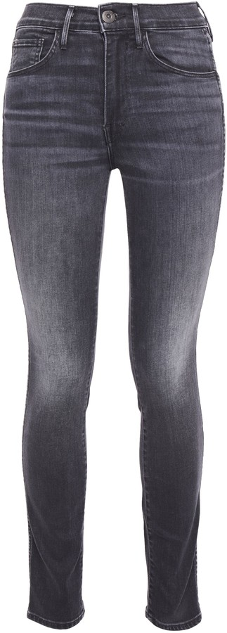 3x1 Faded High-rise Slim-leg Jeans