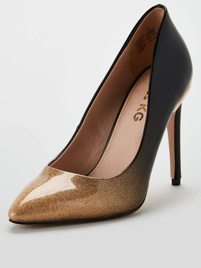Miss Kg Cayleb High Point Court Shoes - Gold