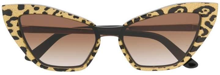 Dolce & Gabbana Eyewear leopard print cat eye sunglasses