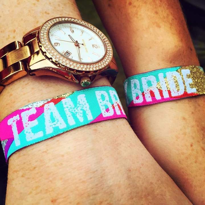 WEDFEST Team Bride Multicoloured Hen Party Wristbands