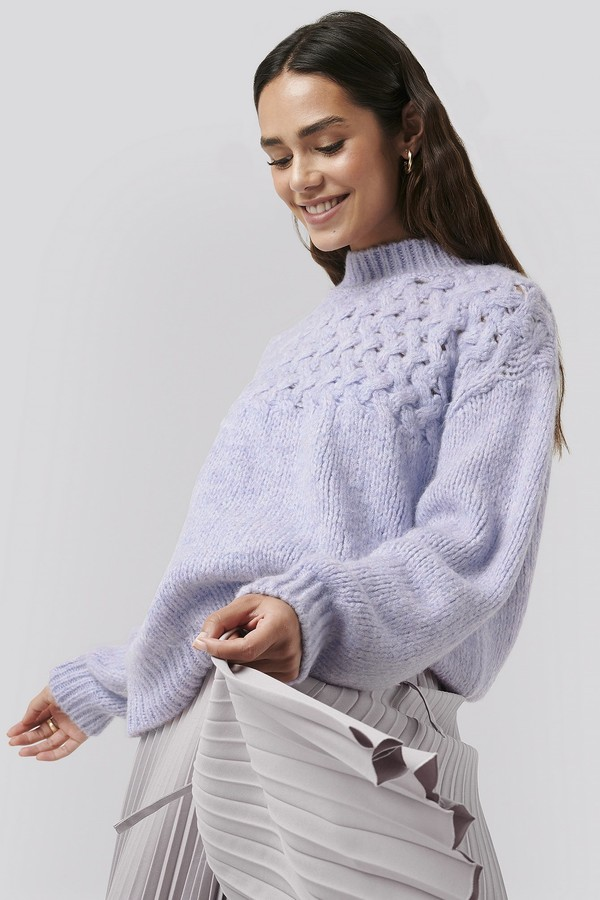 NA-KD Cable Detail Knitted Sweater