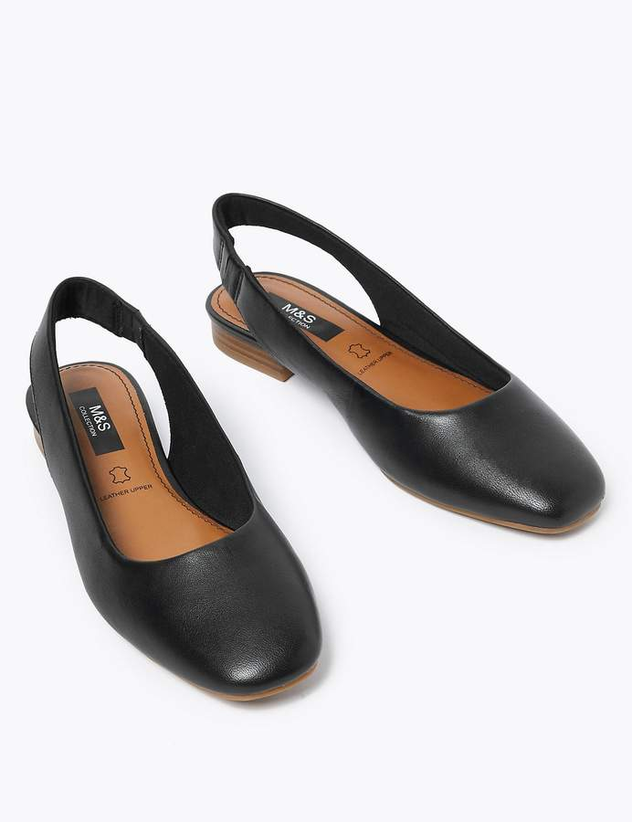 M&S CollectionMarks and Spencer Leather Slingback Shoes