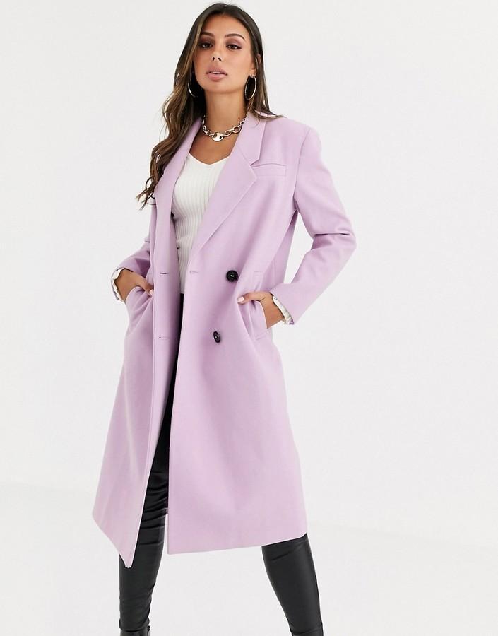 Asos Design ASOS DESIGN hero longline maxi coat in lilac