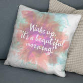 The Drifting Bear Co. 'Beautiful Morning' Positive Quote Print Cushion