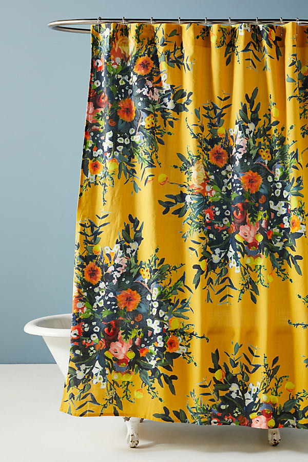 marcene bouquet shower curtain by in assorted size 72 x 72