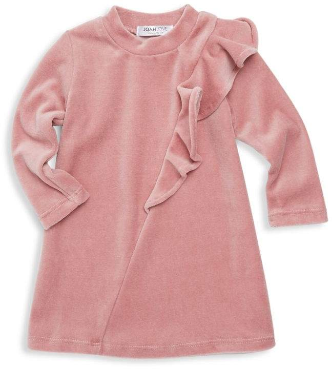 Joah Love Baby Girl's Lux Velour Ruffle Dress