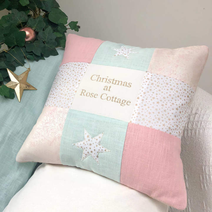 Tuppenny House Designs Christmas At... Pastel Cushion
